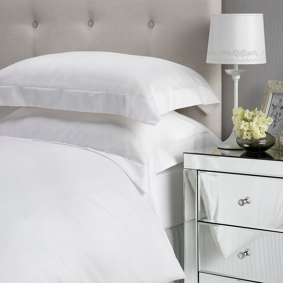 400 Thread Count Deep Fit Sheet White