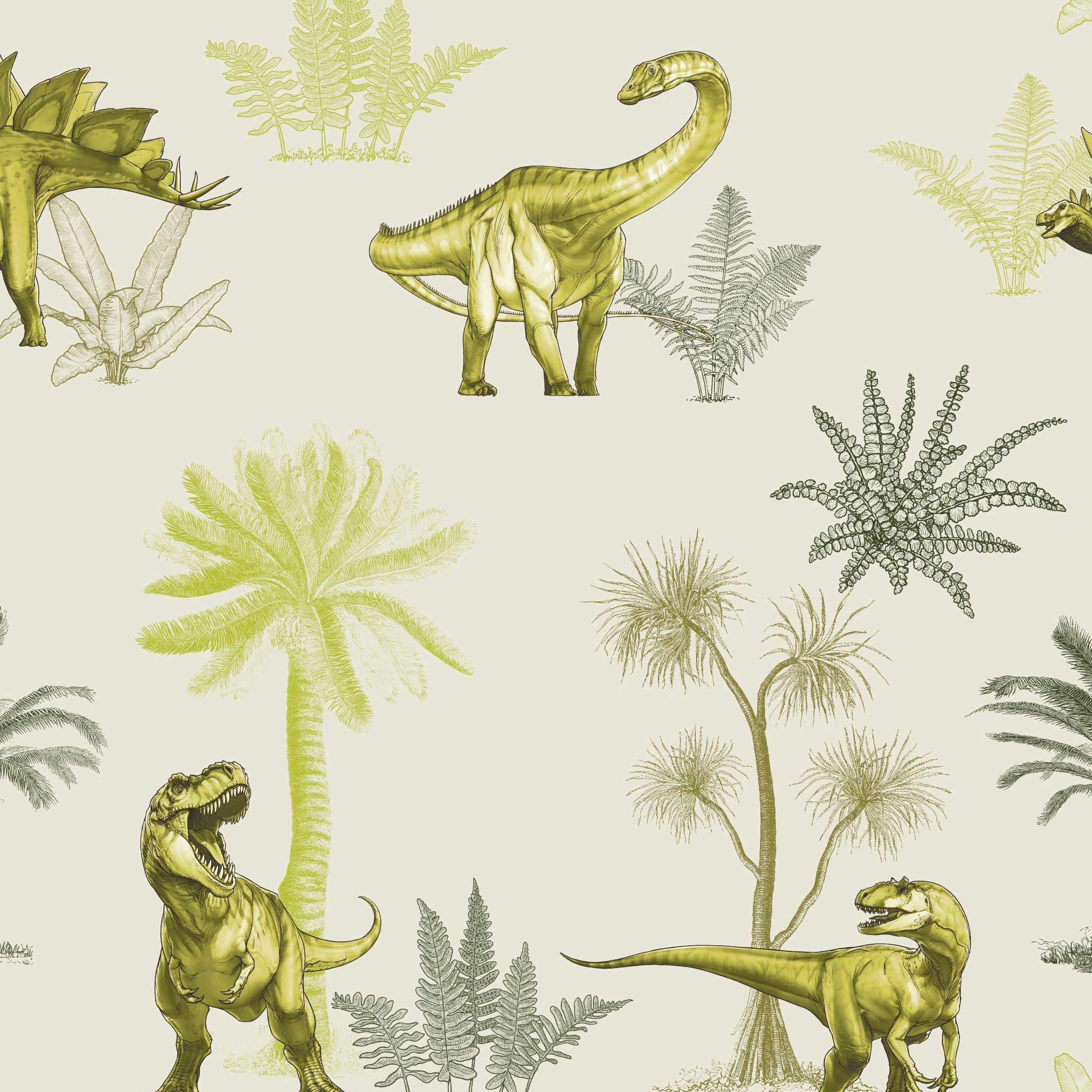 Age Of The Dinosaurs Foliage Craft Fabric