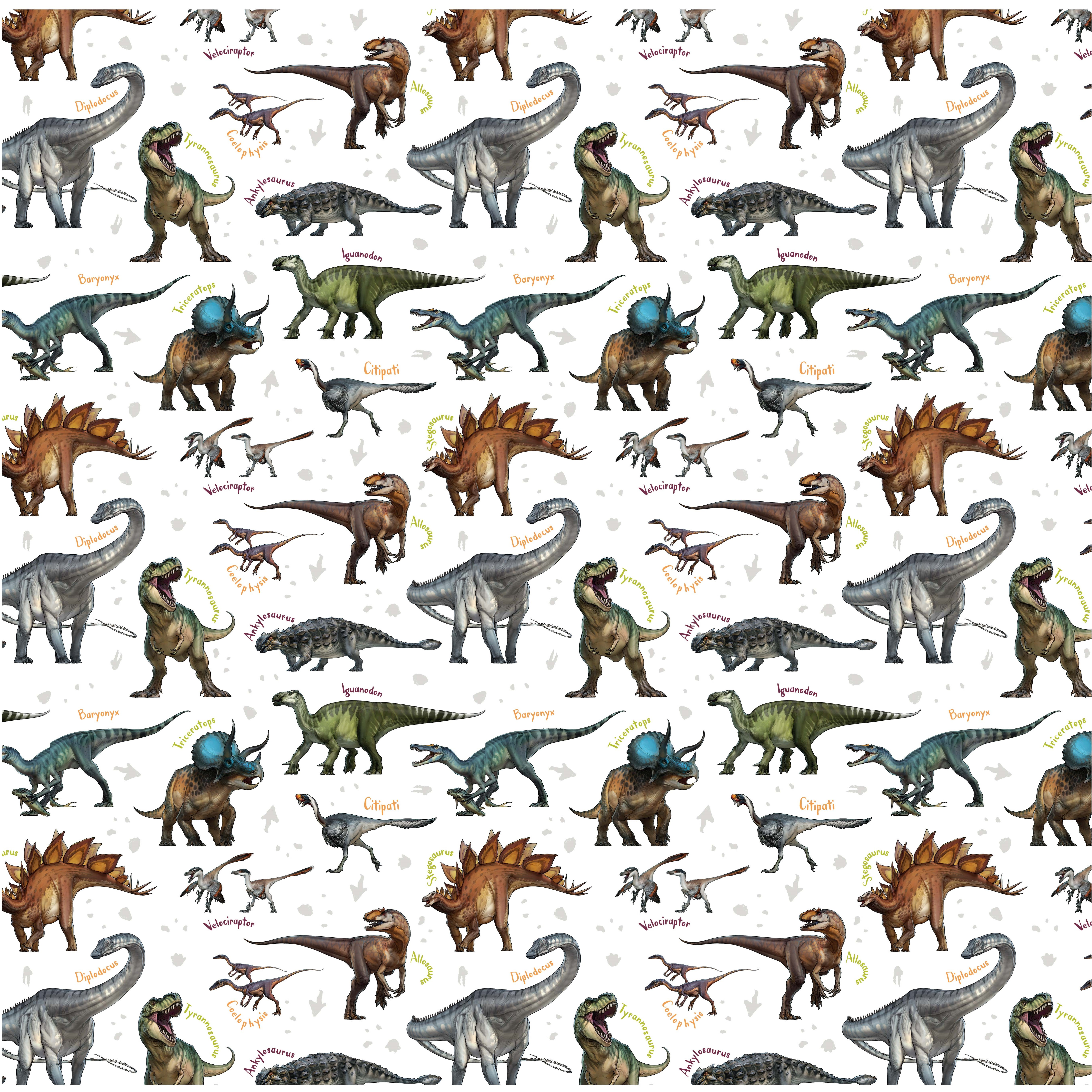 Age Of The Dinosaurs Species Craft Fabric