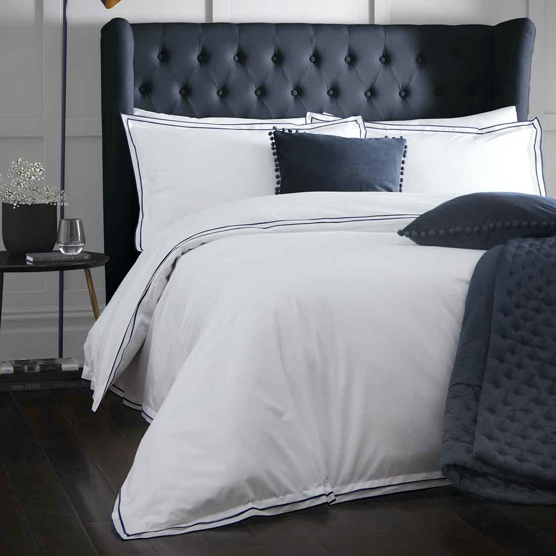 Alden Navy Duvet Set