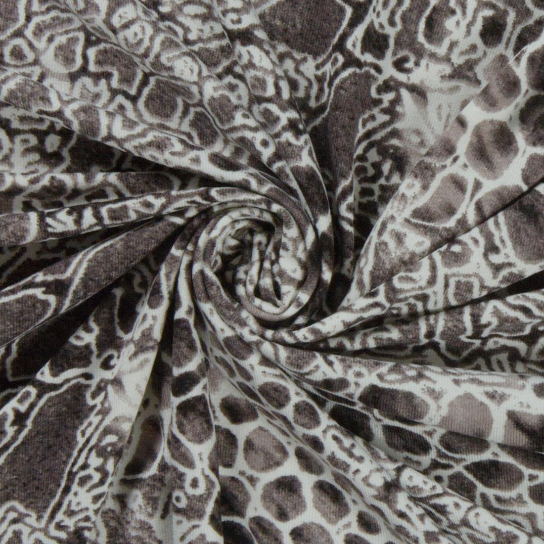 Animal Jersey Grey Dress Fabric