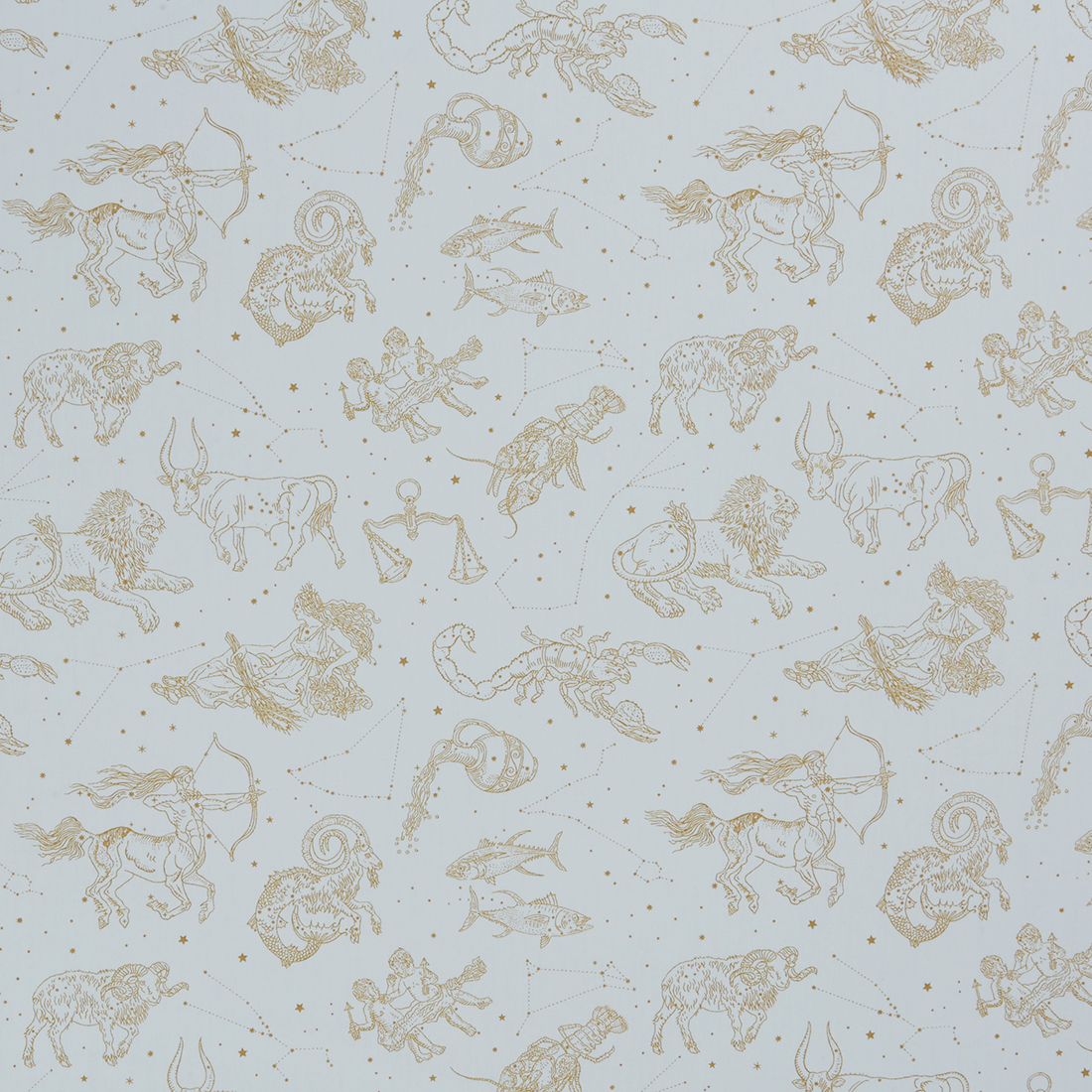 Astrology Ivory Dress Fabric