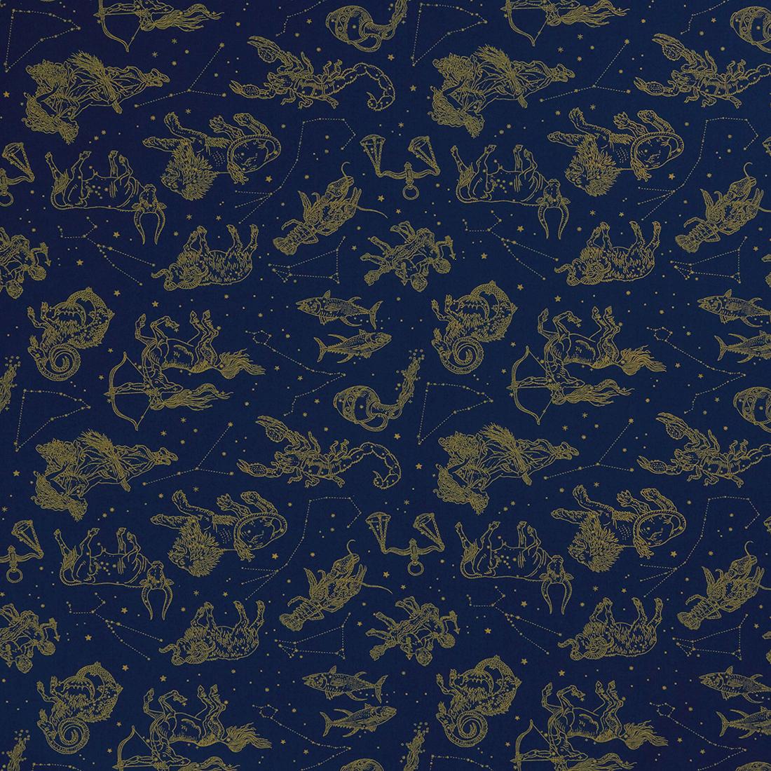 Astrology Navy Dress Fabric