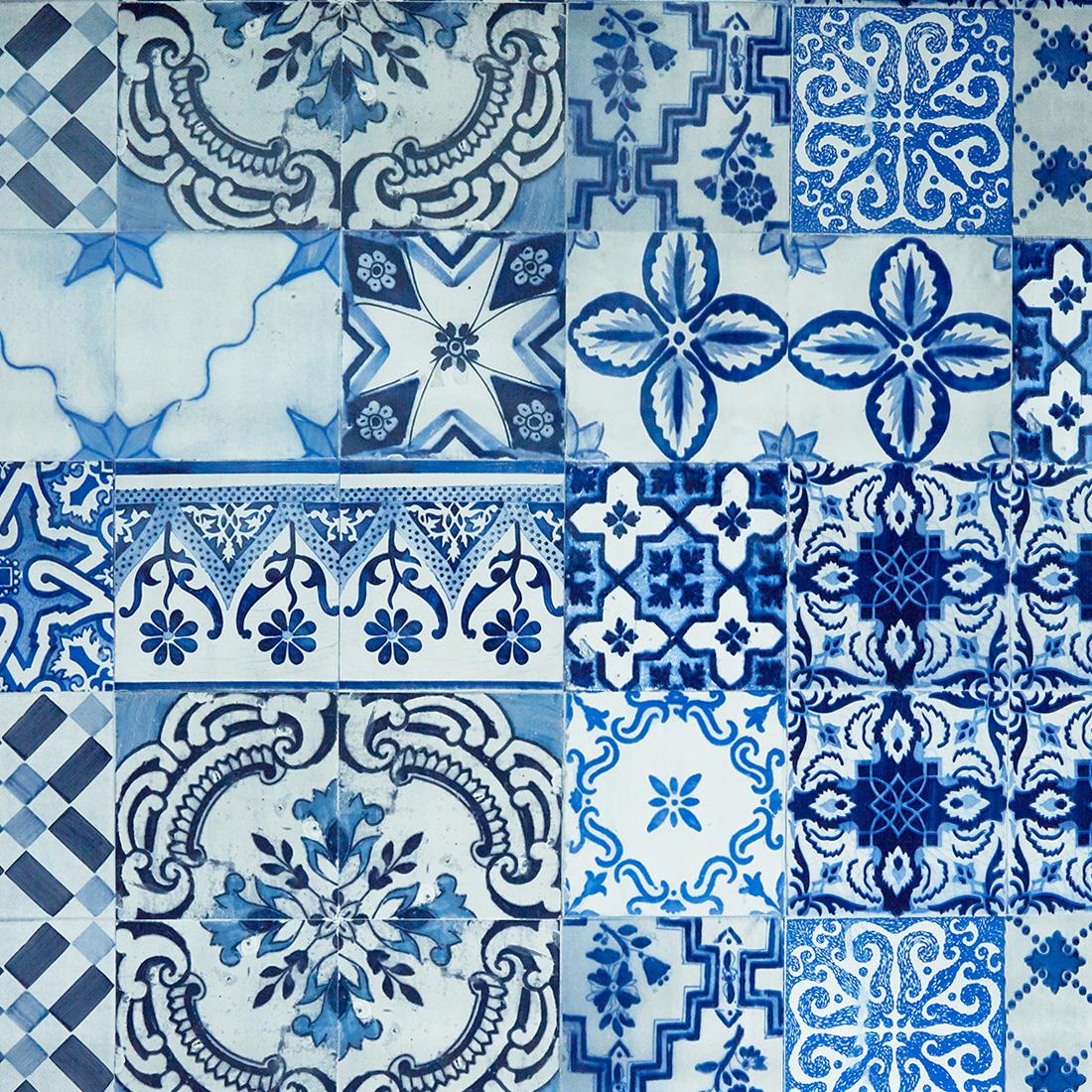 Azulejos Blue Oil Cloth