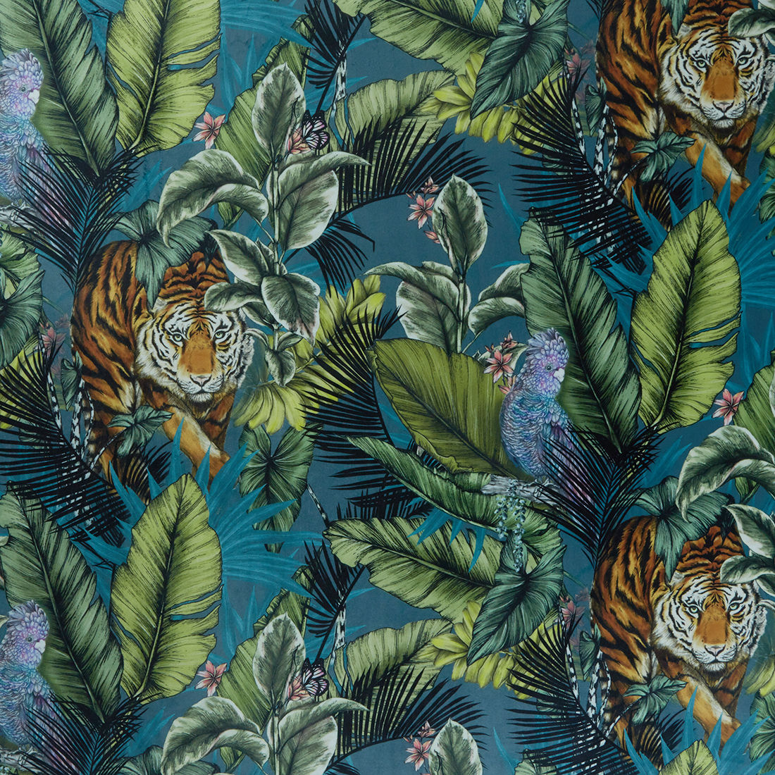 Bengal Tiger Twilight Upholstery Fabric