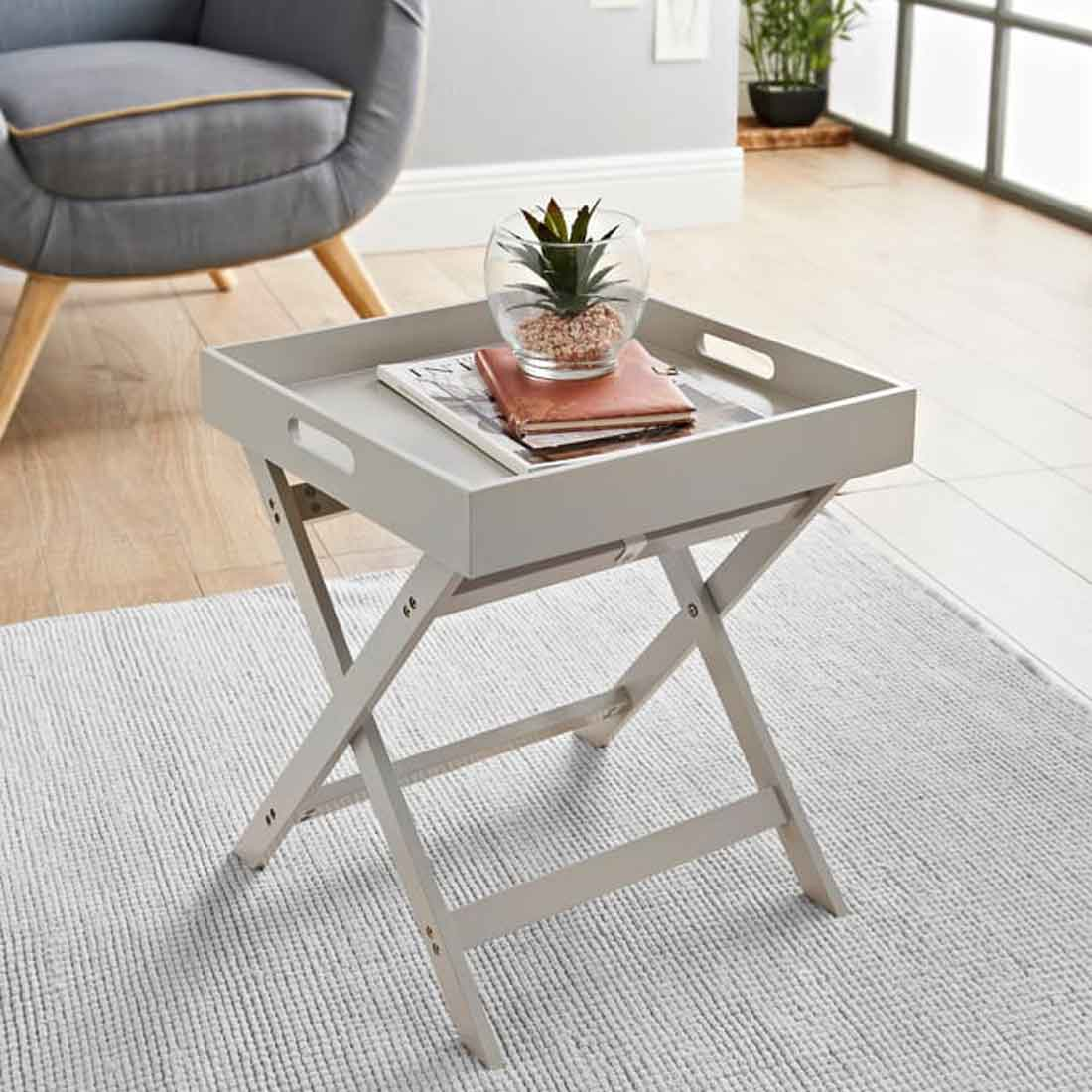 Bjorn Tray Table Stone