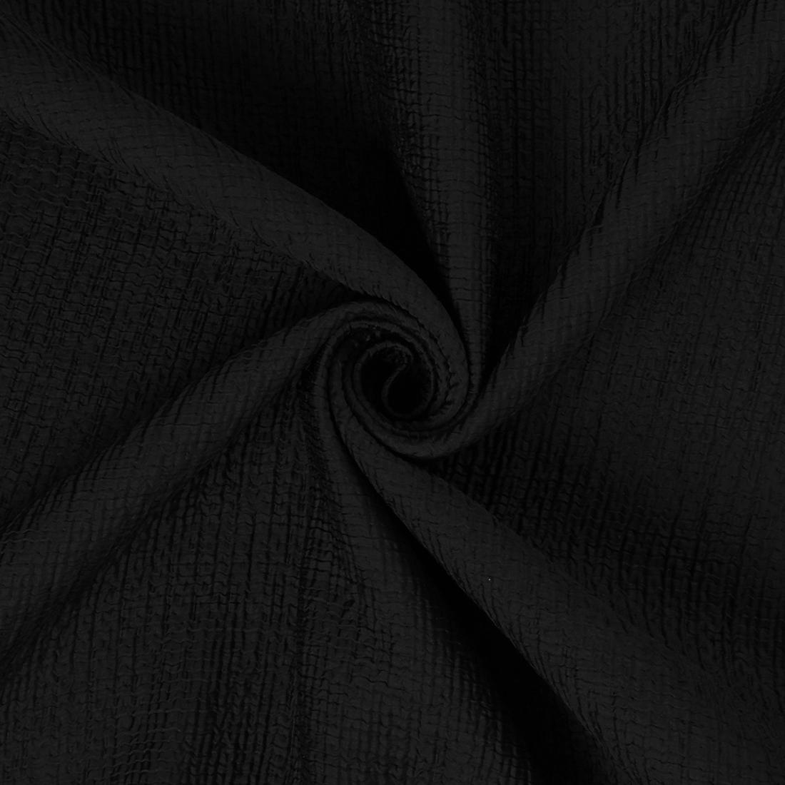 Bonded Crinkle Black Dress Fabric