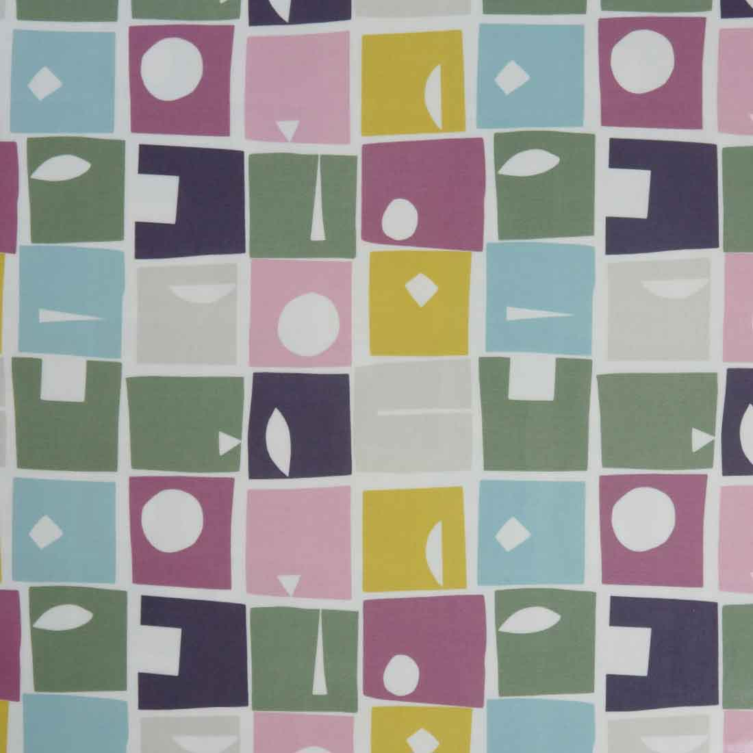 Bonnie Violet Gloss Oil Cloth