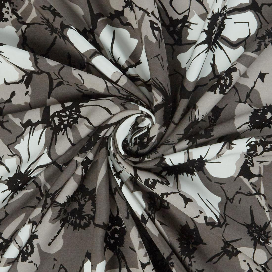 Buttercup Viscose Platinum Dress Fabric