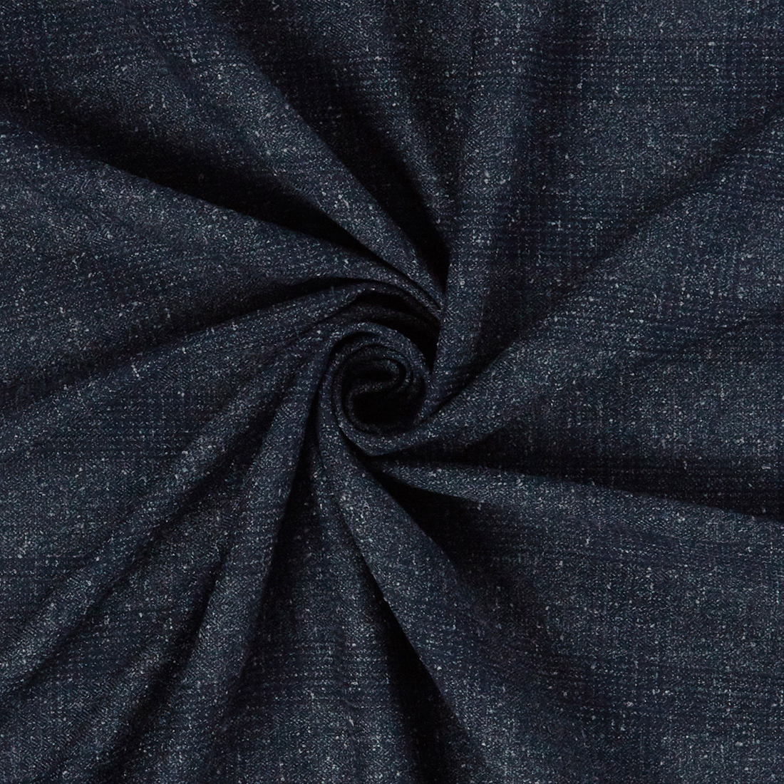 Check Fleck Suiting Blue Dress Fabric