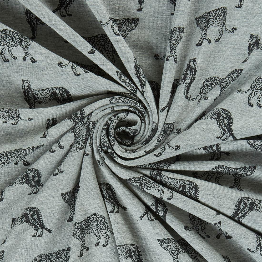 Cheetah Jersey Grey