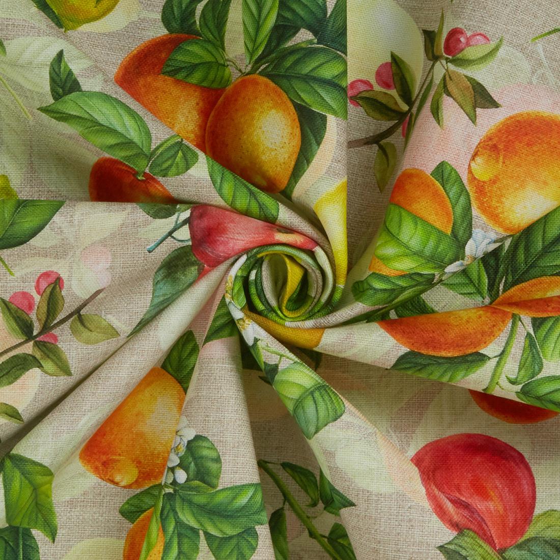 Citrus canvas Sand Dress Fabric