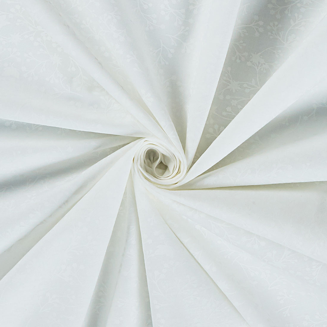 Cotton Floral White Blender Craft Fabric