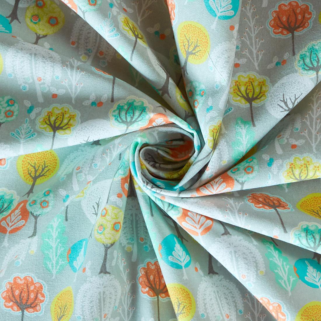 Cotton Into Spring Grey Craft Fabric