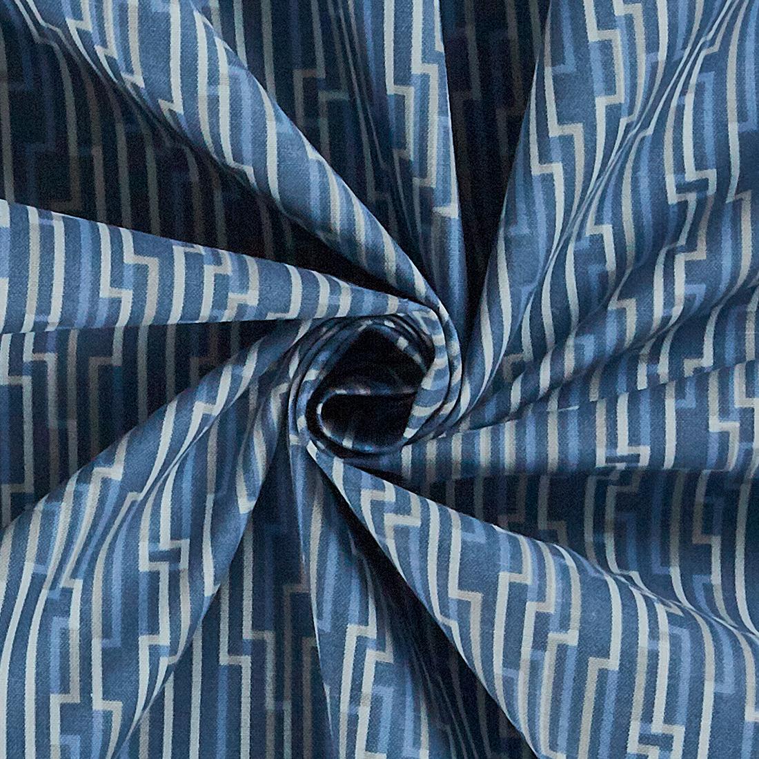 Cotton Marbella Geometric Grey