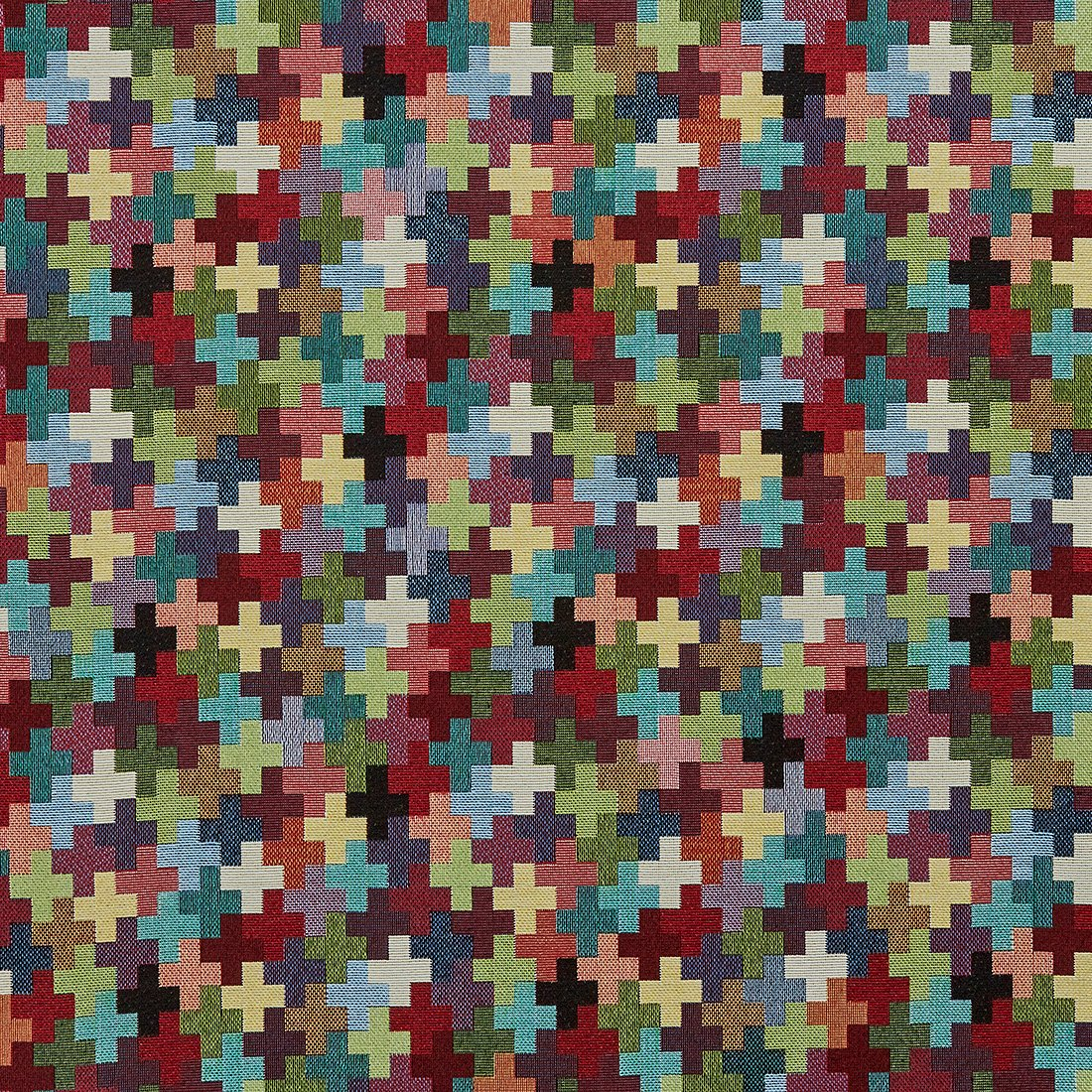Cross Geo Multi Upholstery Fabric