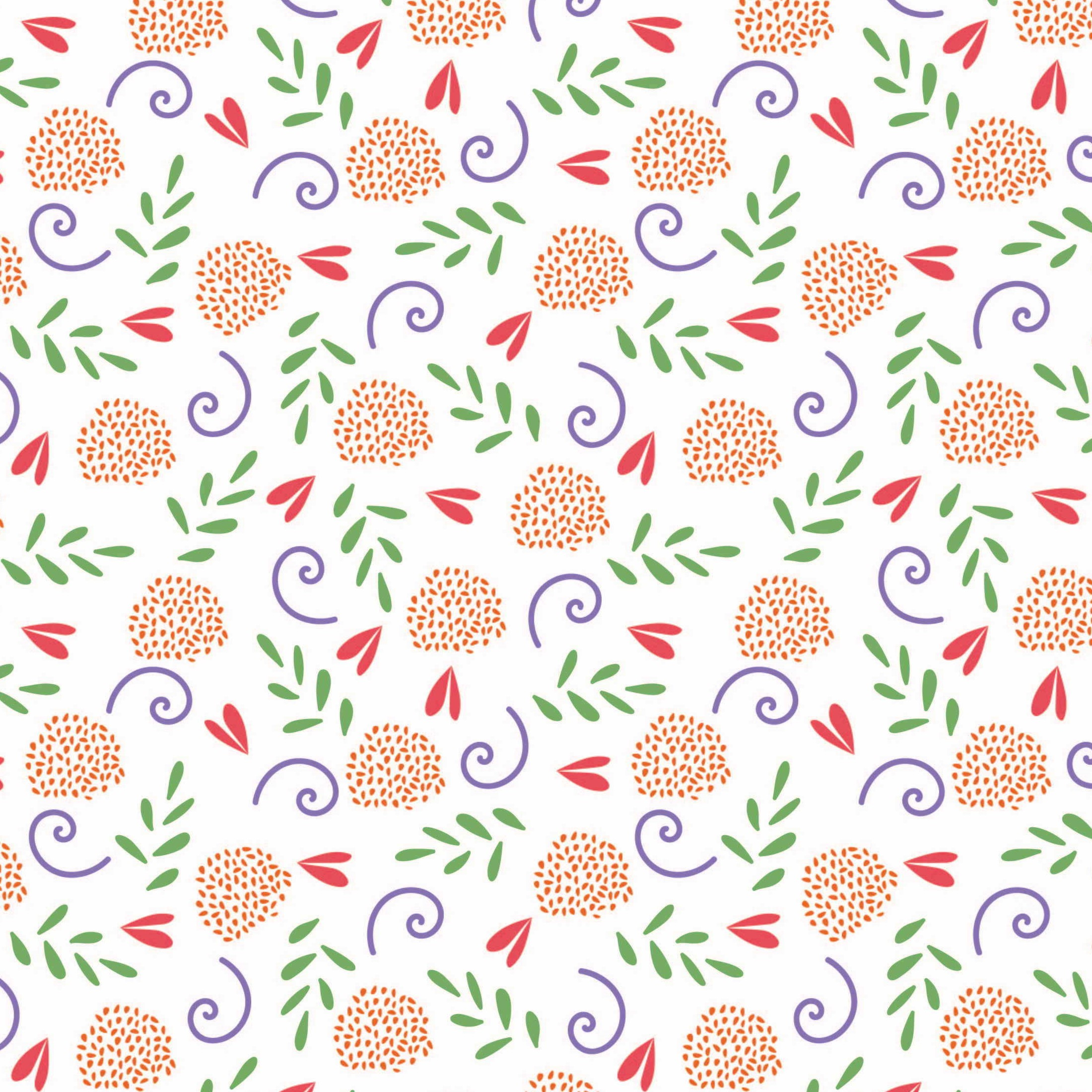 Cute Floral White Craft Fabric