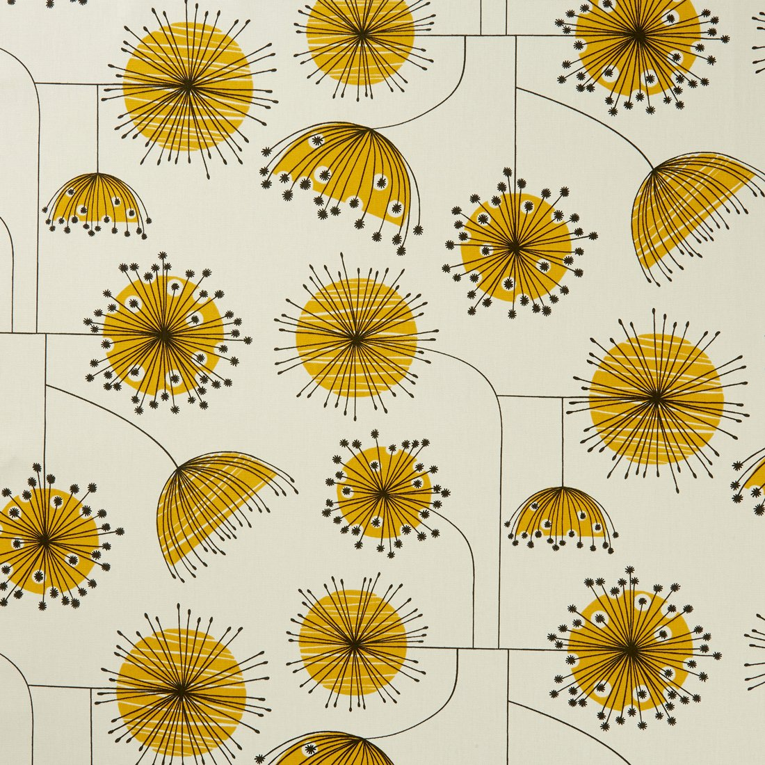 Dandelion Mobile Yellow Curtain Fabric