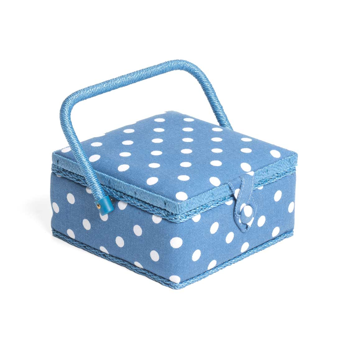 Denim Spot Small Sewing Basket