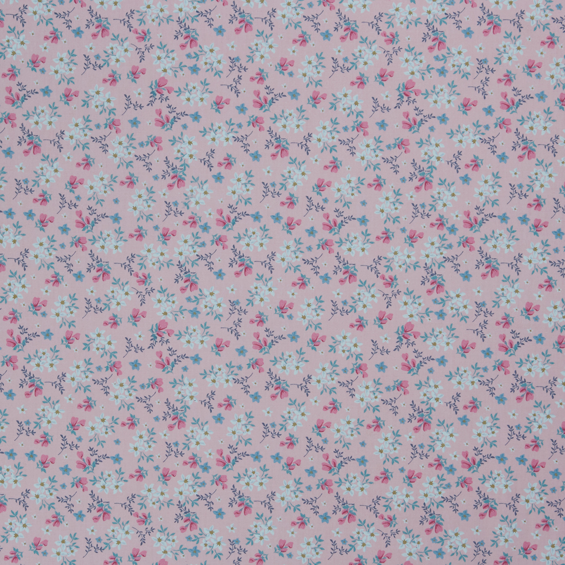 Ditsy Lily Pink Dress Fabric