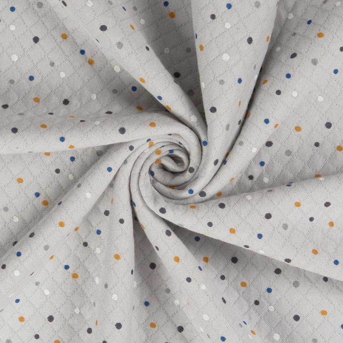 Dotty Quilt Jersey Grey Dress Fabric