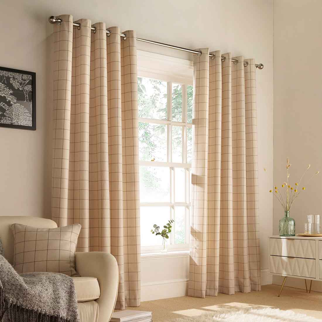 Ellis Natural Eyelet Curtains