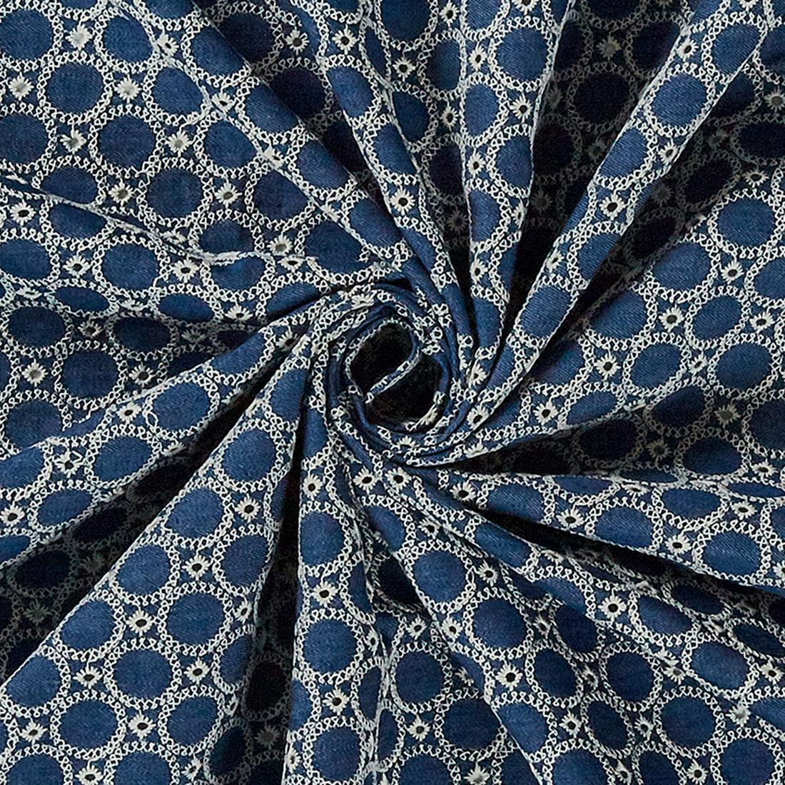 Cotton Embroidered Denim