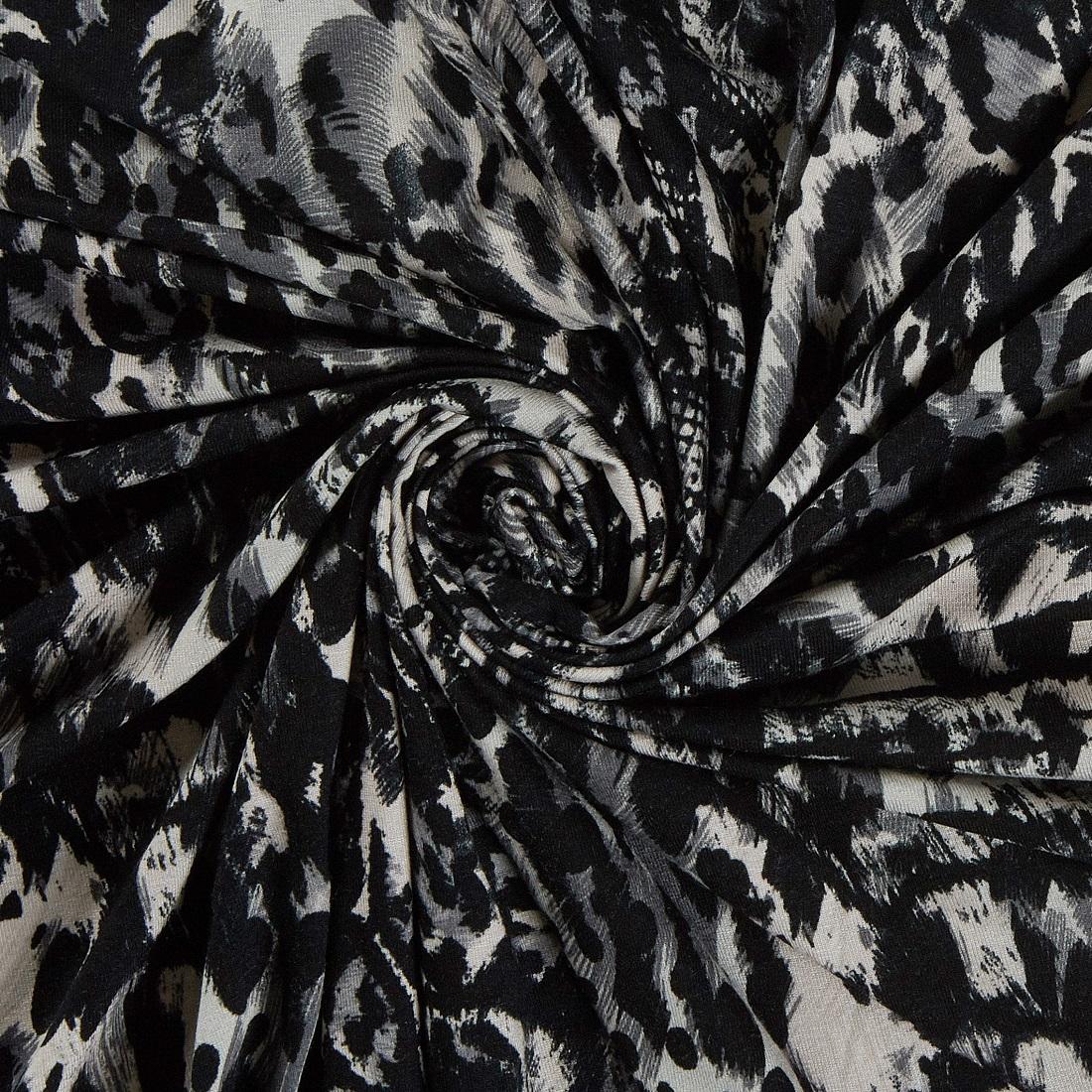 Etosha Jersey Sepia Dress Fabric