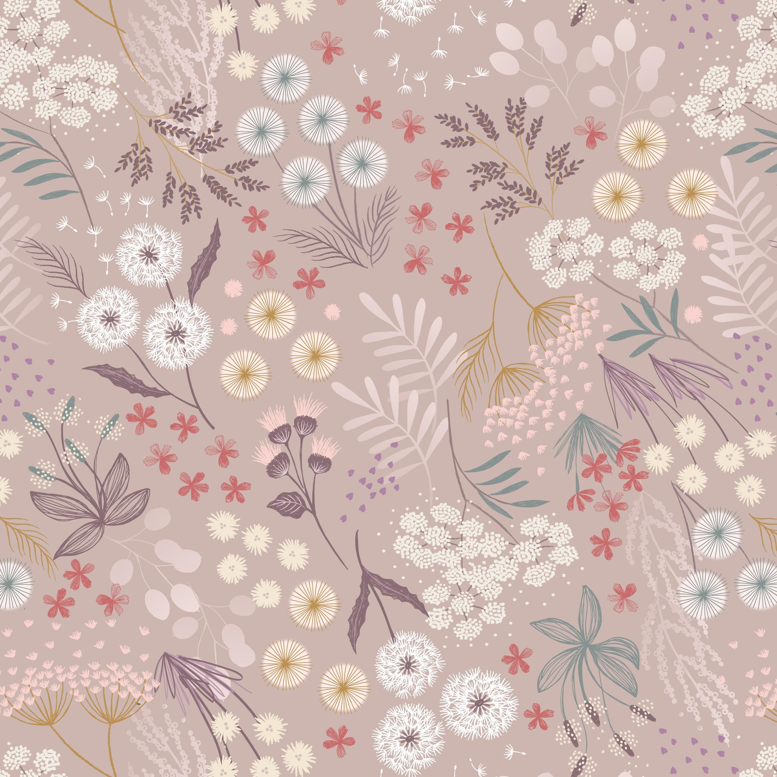 Fairy Clocks Floral Blush