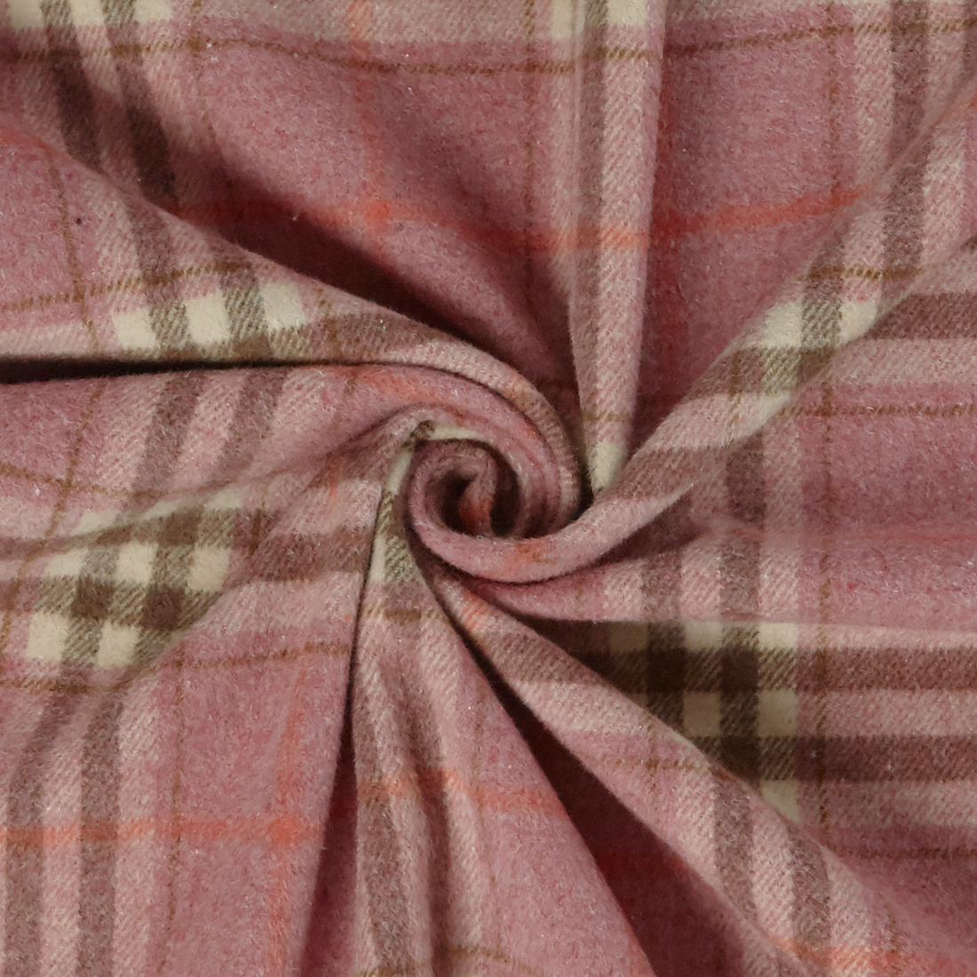 Flannel Check Pink Dress Fabric