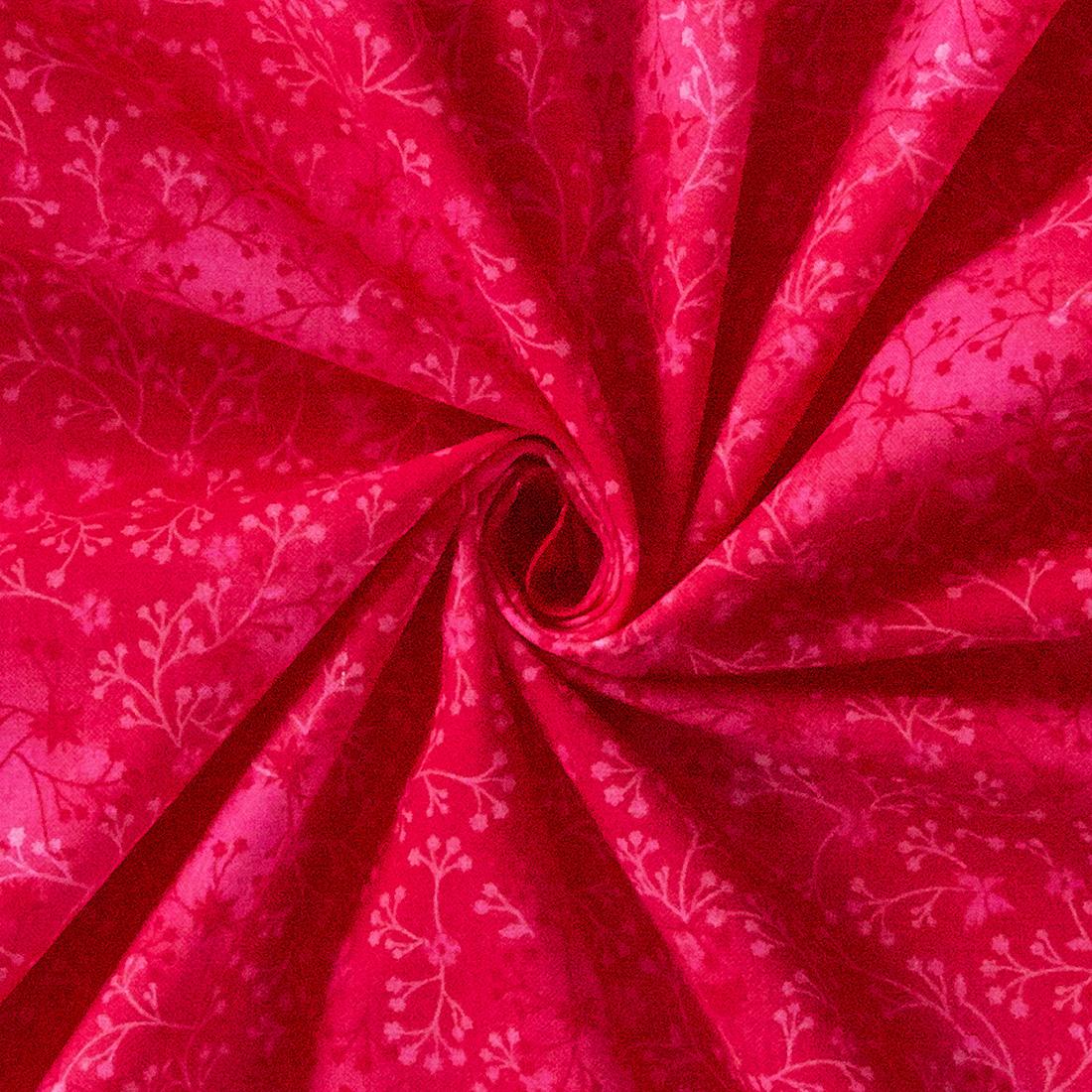 Cotton Floral Fuchsia Blend Craft Fabric