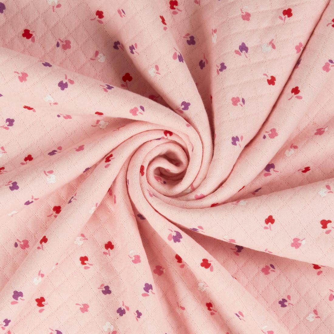 Floral Quilt Jersey Pink Dress Fabric