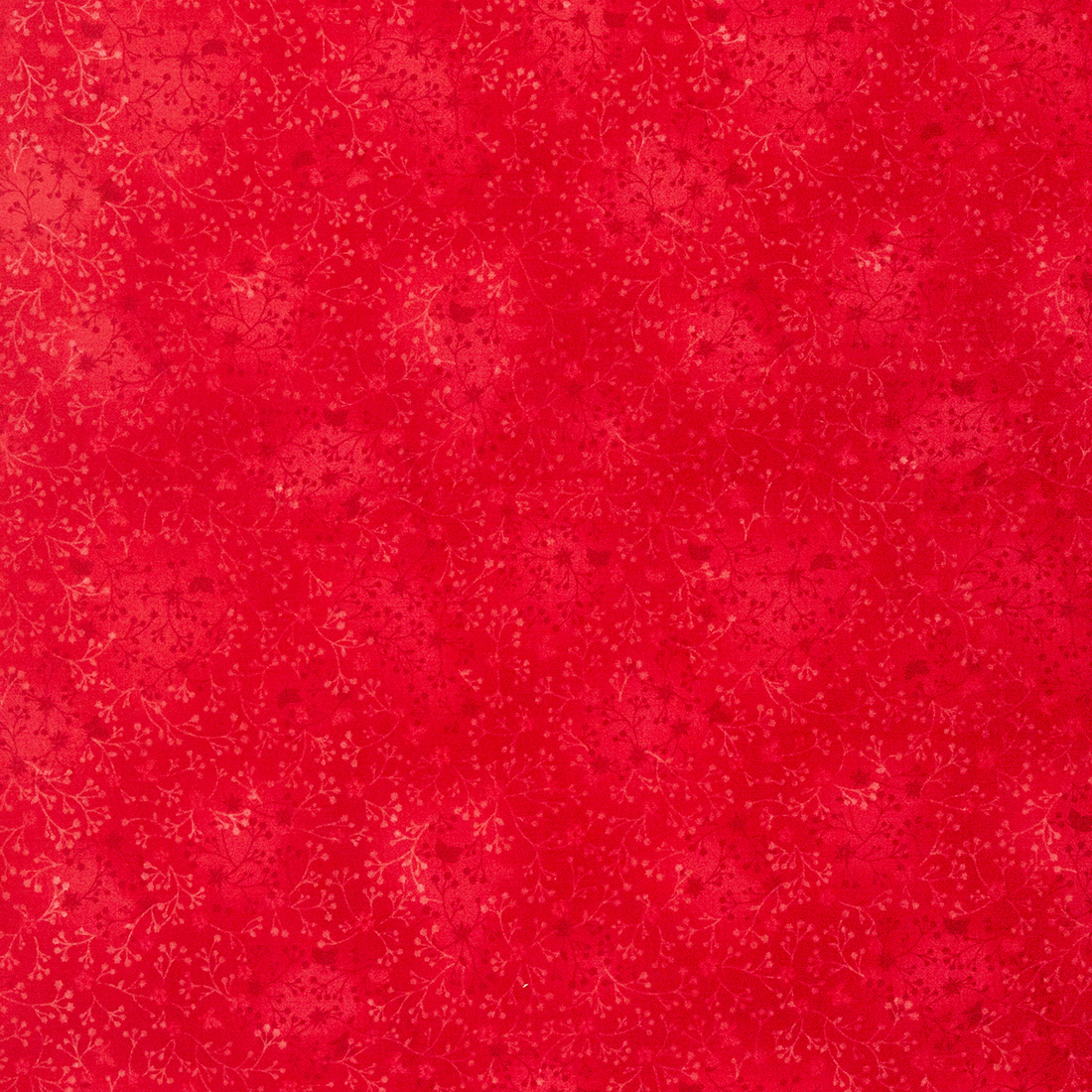 Cotton Floral Red Blend Craft Fabric