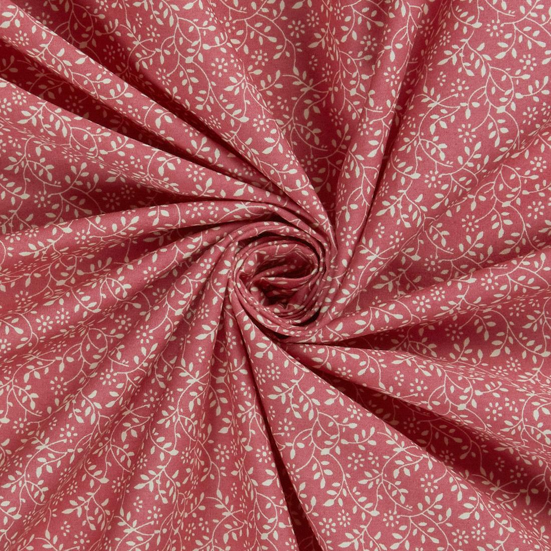 Floral Vine Rose Dress Fabric