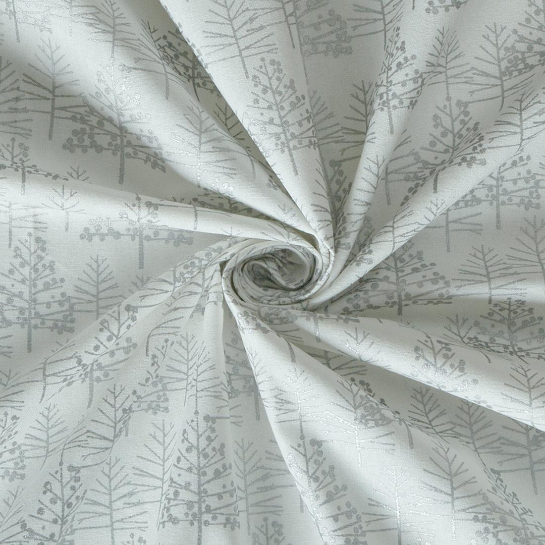 Foil Tree White Silver