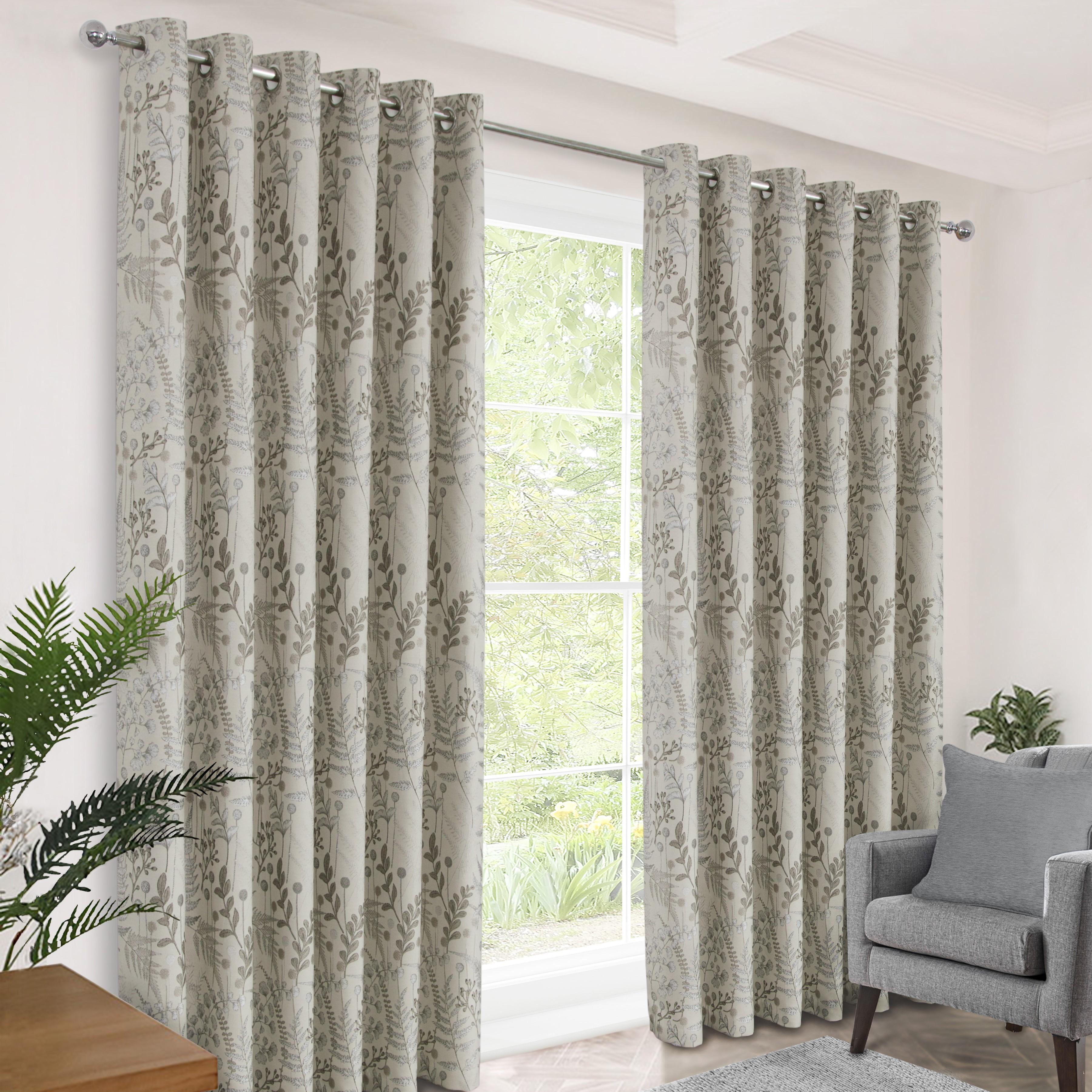 Foliage Birch Eyelet Curtains