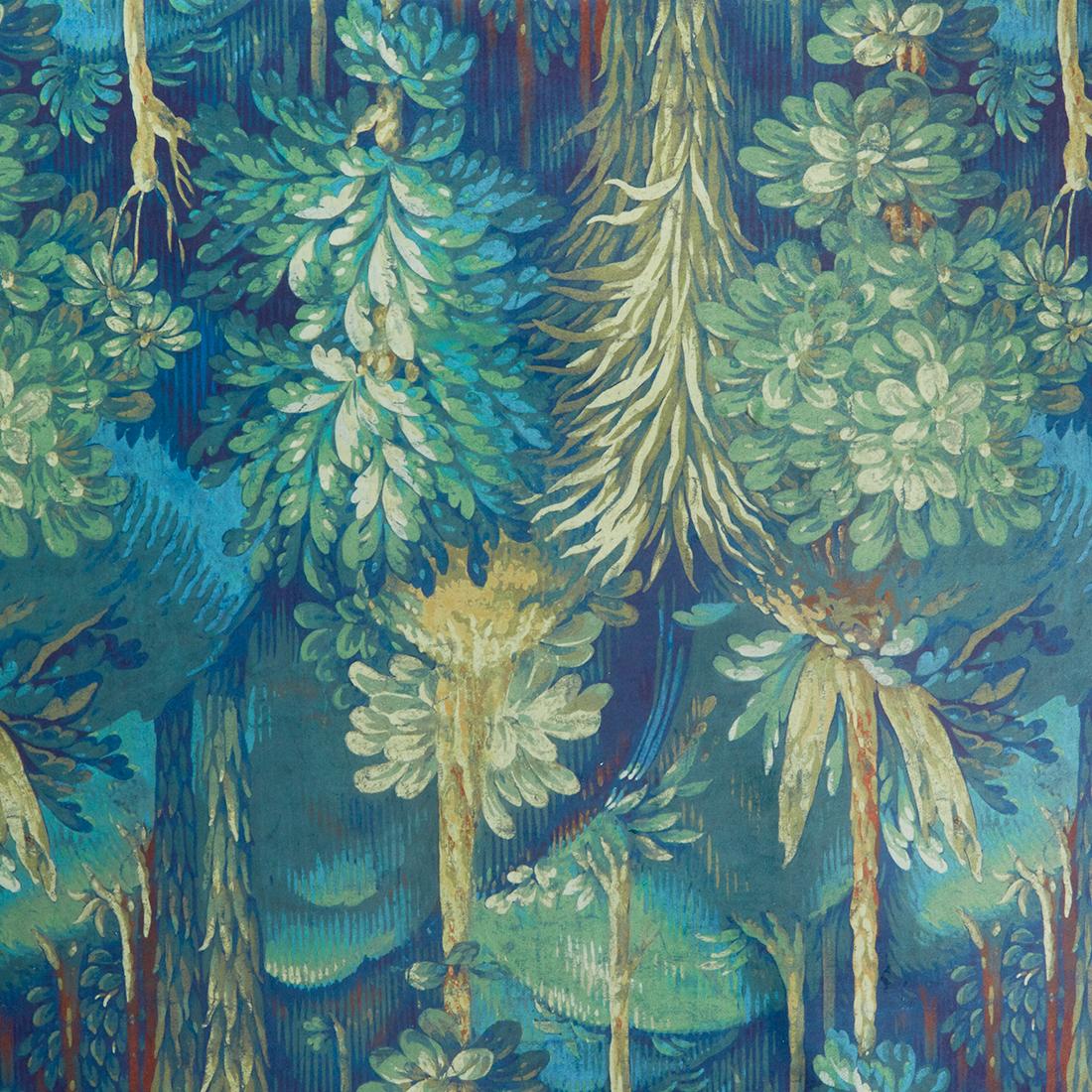 Forbidden Forest Sapphire Upholstery Fabric