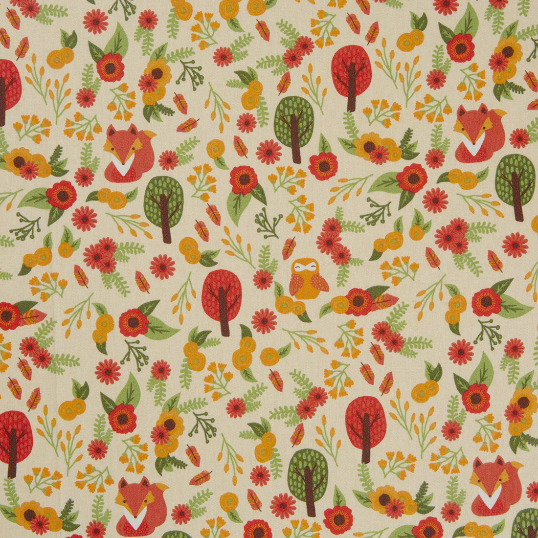 Foxy Fall Natural Craft Fabric