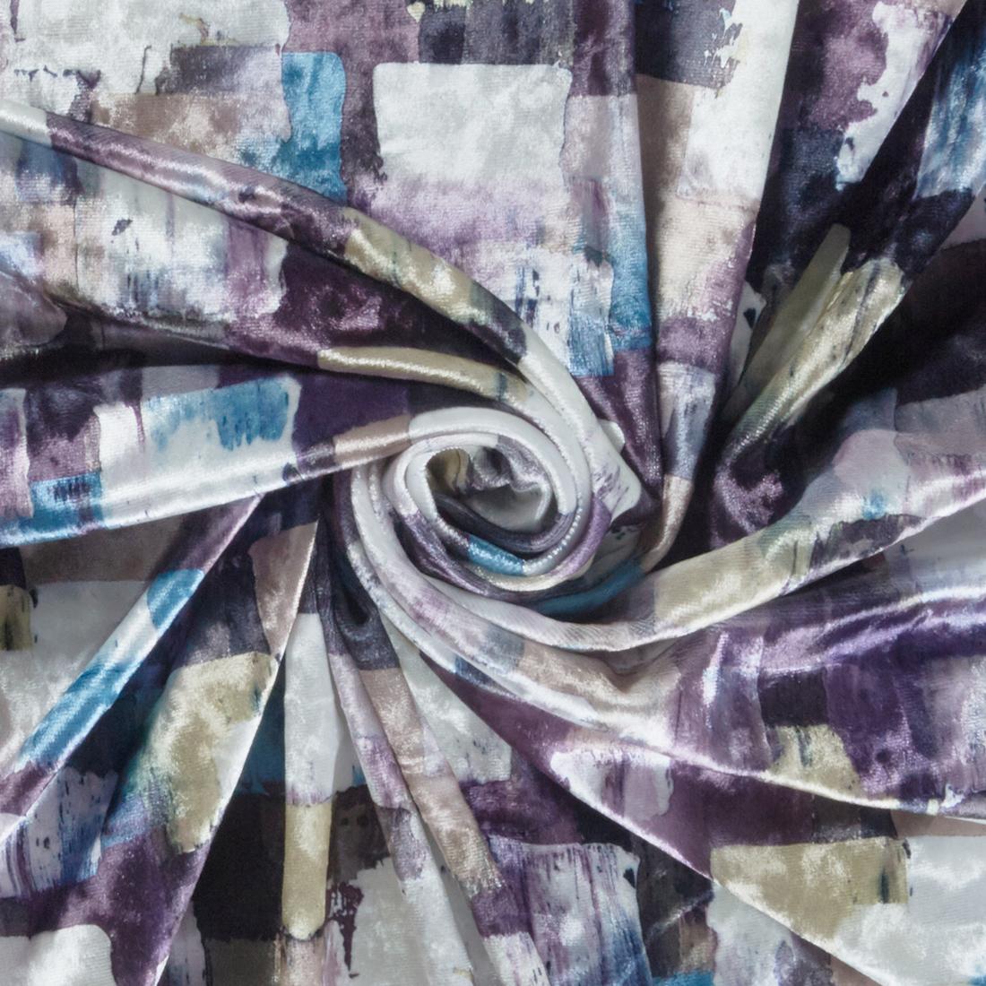 Geo Velvet Silver Lime Dress Fabric