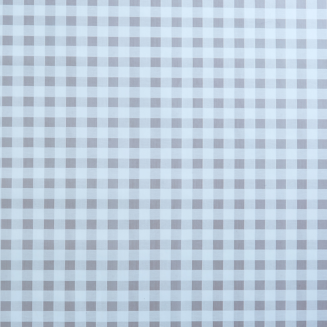 Gingham Natural Oil Cloth