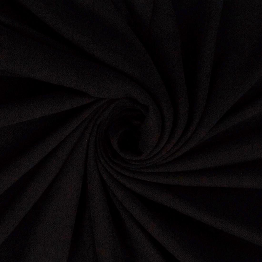 Hammered Viscose Black Dress Fabric
