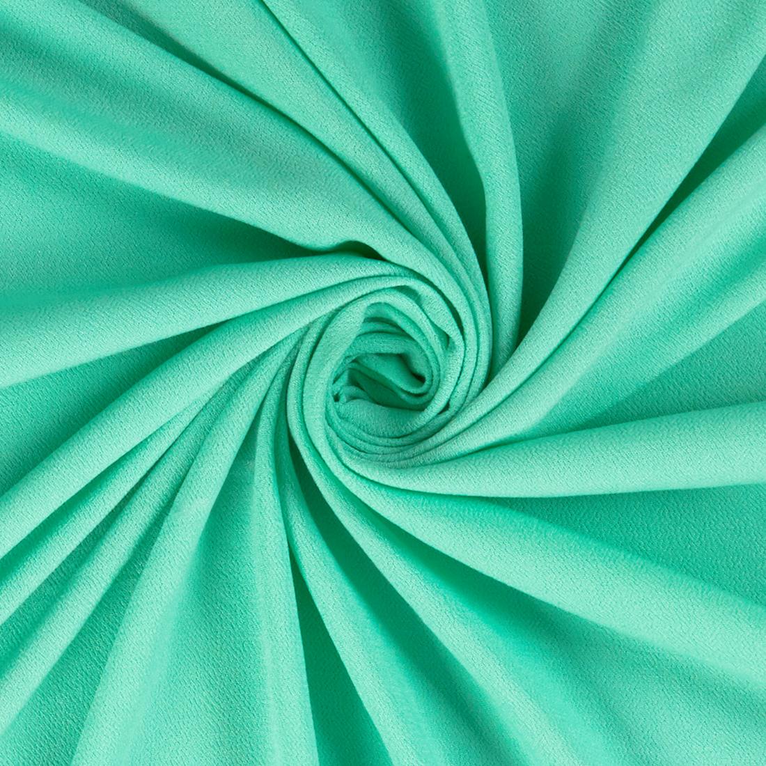 Hammered Viscose Mint Dress Fabric
