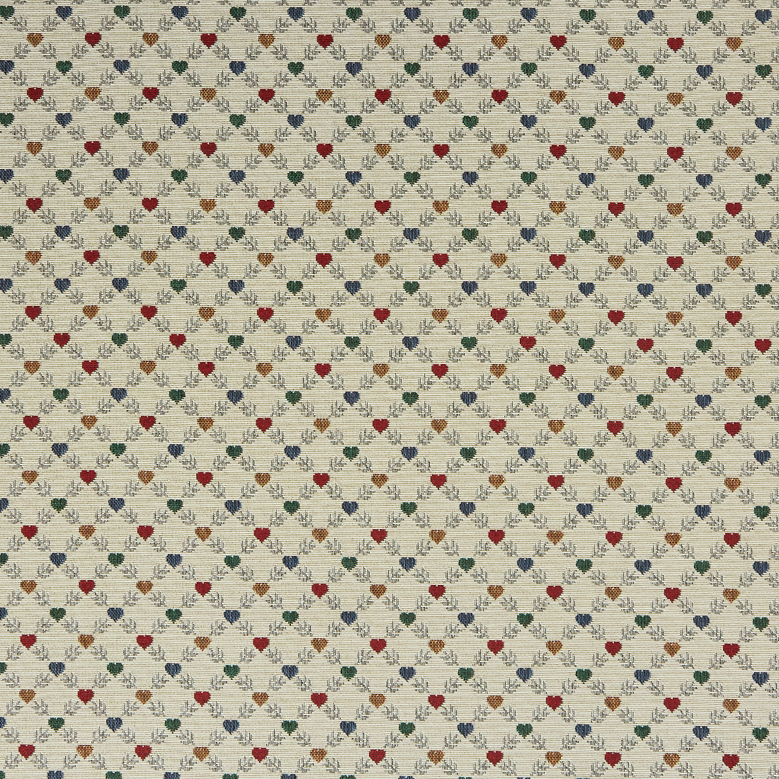 Heart Geo Cream Upholstery Fabric