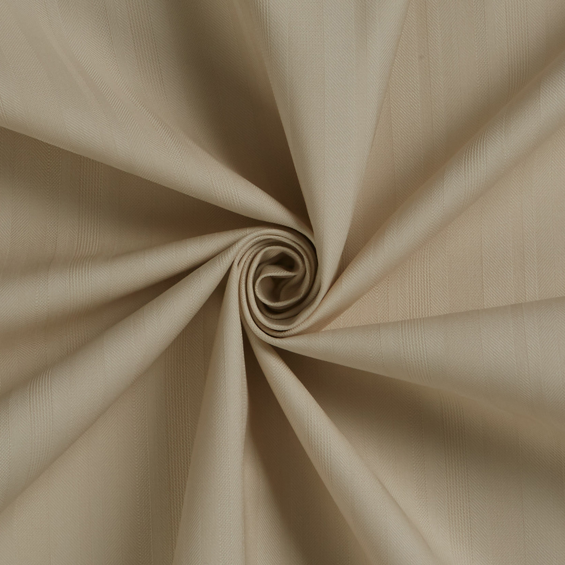 Herringbone Cotton Suiting Beige Fabric