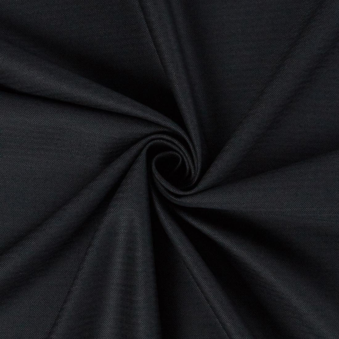 Herringbone Wool Suiting Charcoal Dress Fabric