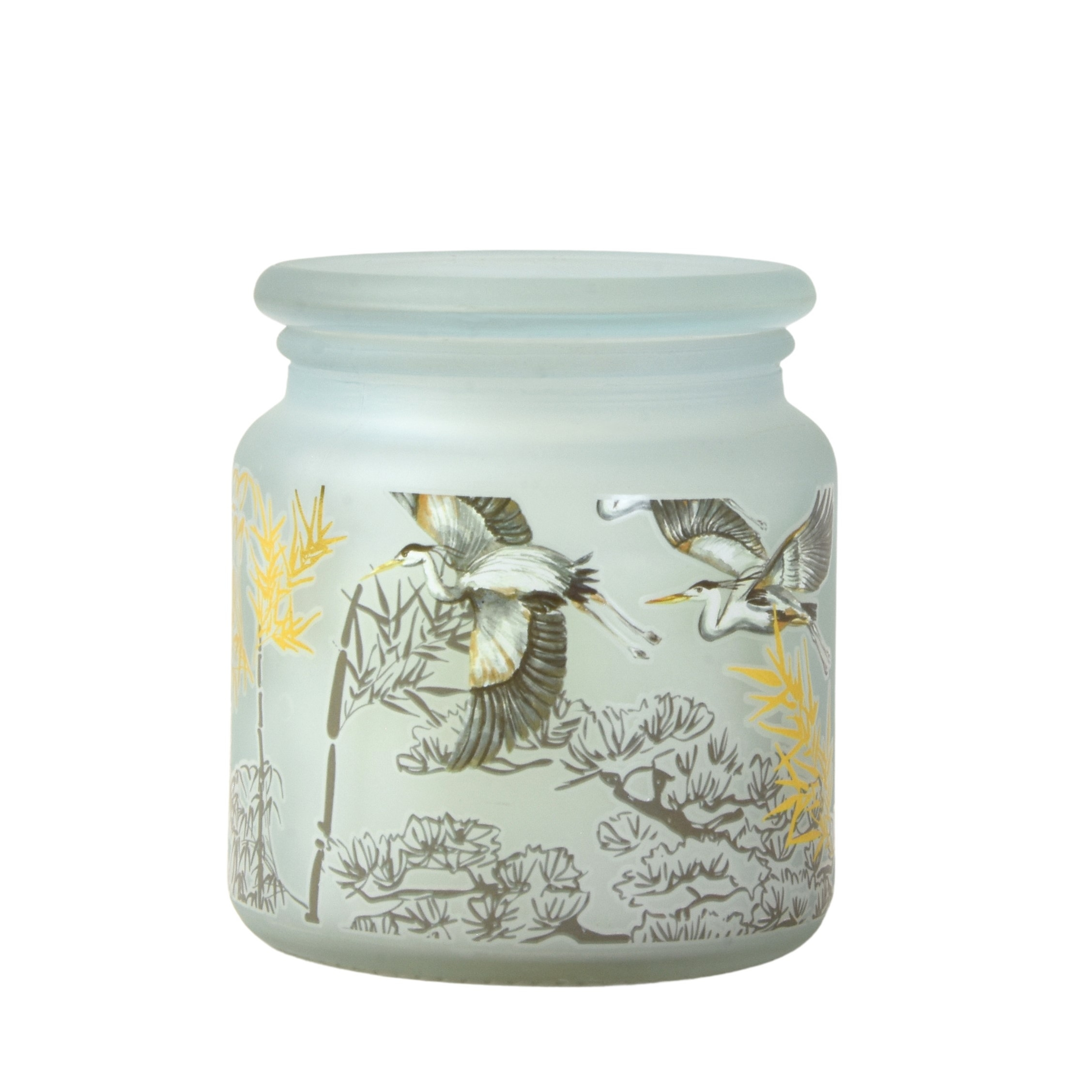 Oriental Heron Large Glass Candle