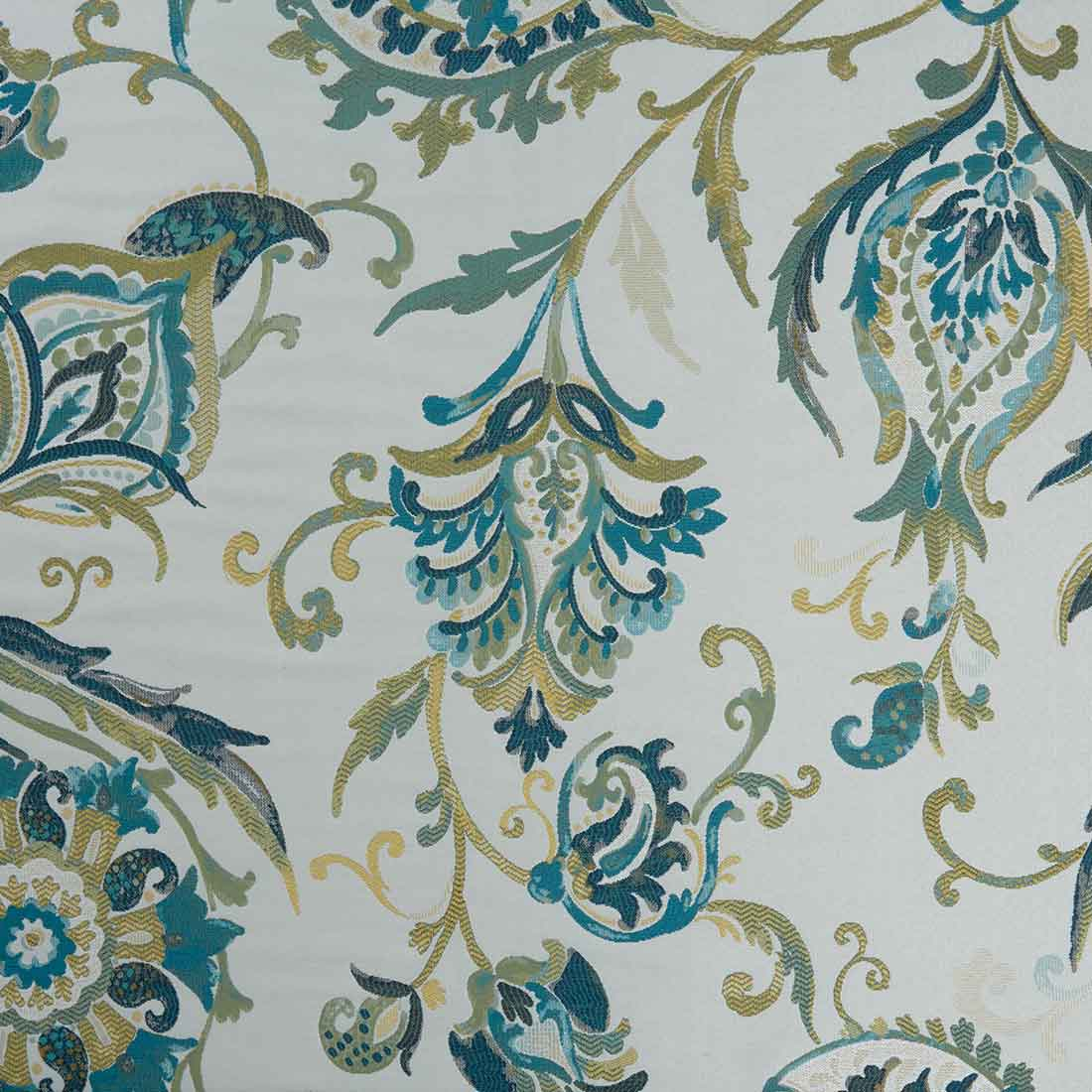 Indira Teal Upholstery Fabric
