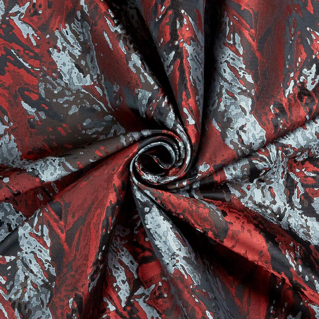 Leaf Damask Red