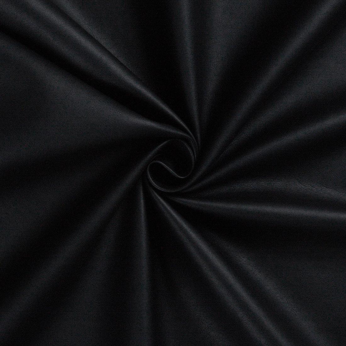 Leatherlook Black Dress Fabric
