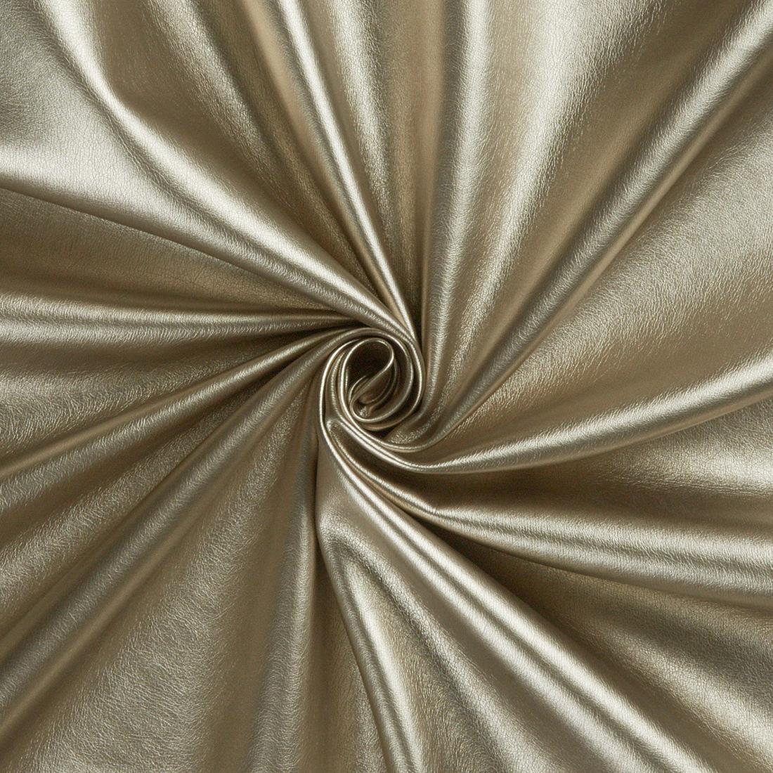 Leatherlook Gold Dress Fabric